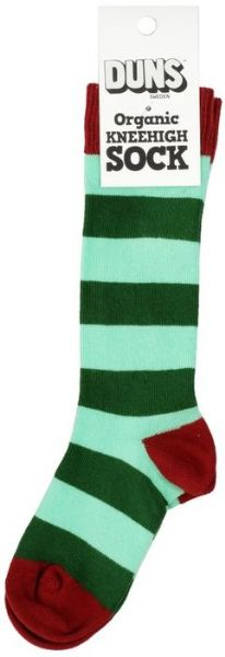 Duns Knee High Socks Green Stripe